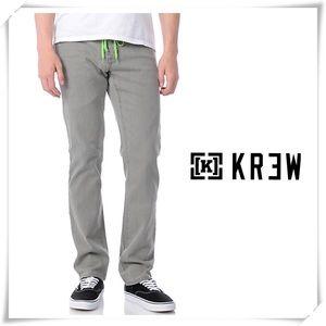 NWT KR3W Lizard King K-Slim Fit Jeans Gray